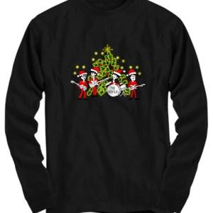 The beatles Singing Christmas Tree long sleeve