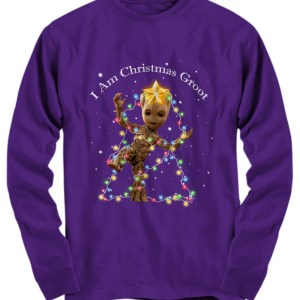 Baby Groot I Am Christmas Groot long sleeve