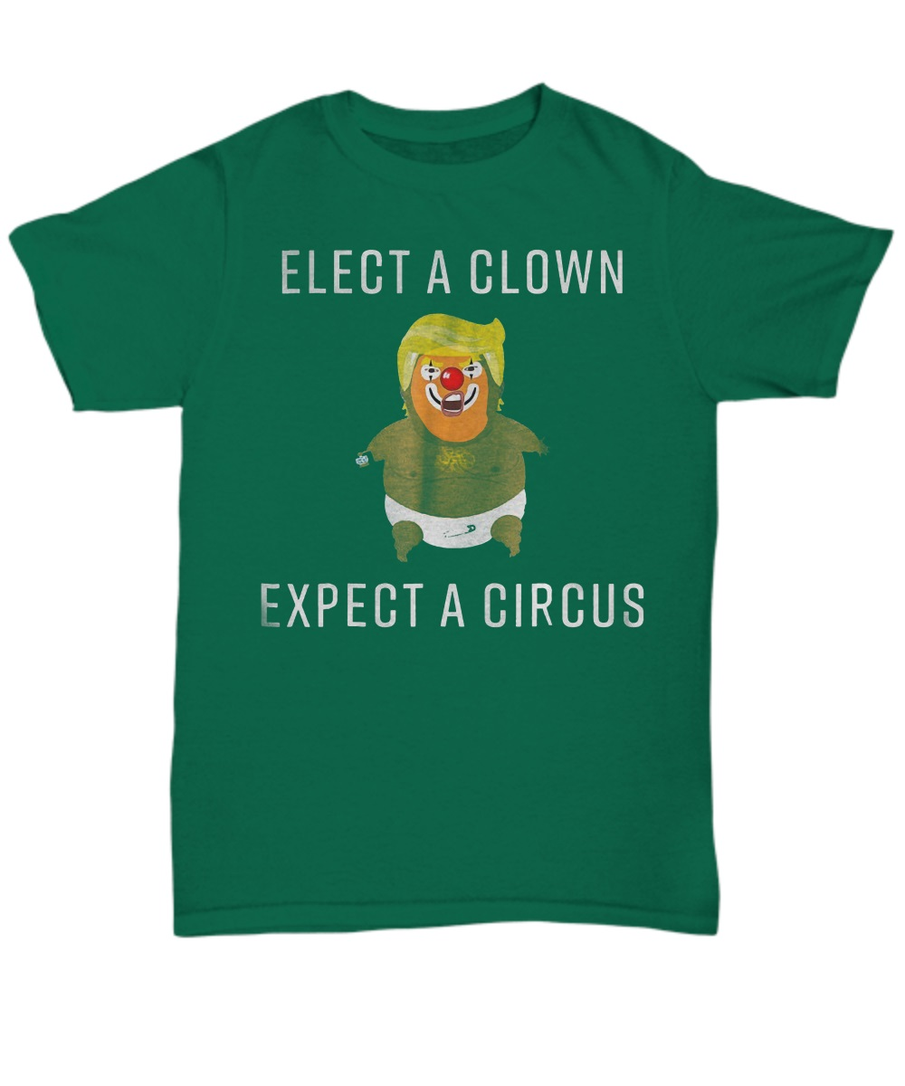 Baby Trump Blimp Balloon Float Elect A Clown Circus classic shirt