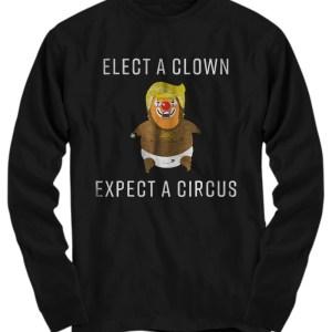 Baby Trump Blimp Balloon Float Elect A Clown Circus long sleeve