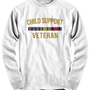 Child support veteran long sleeve