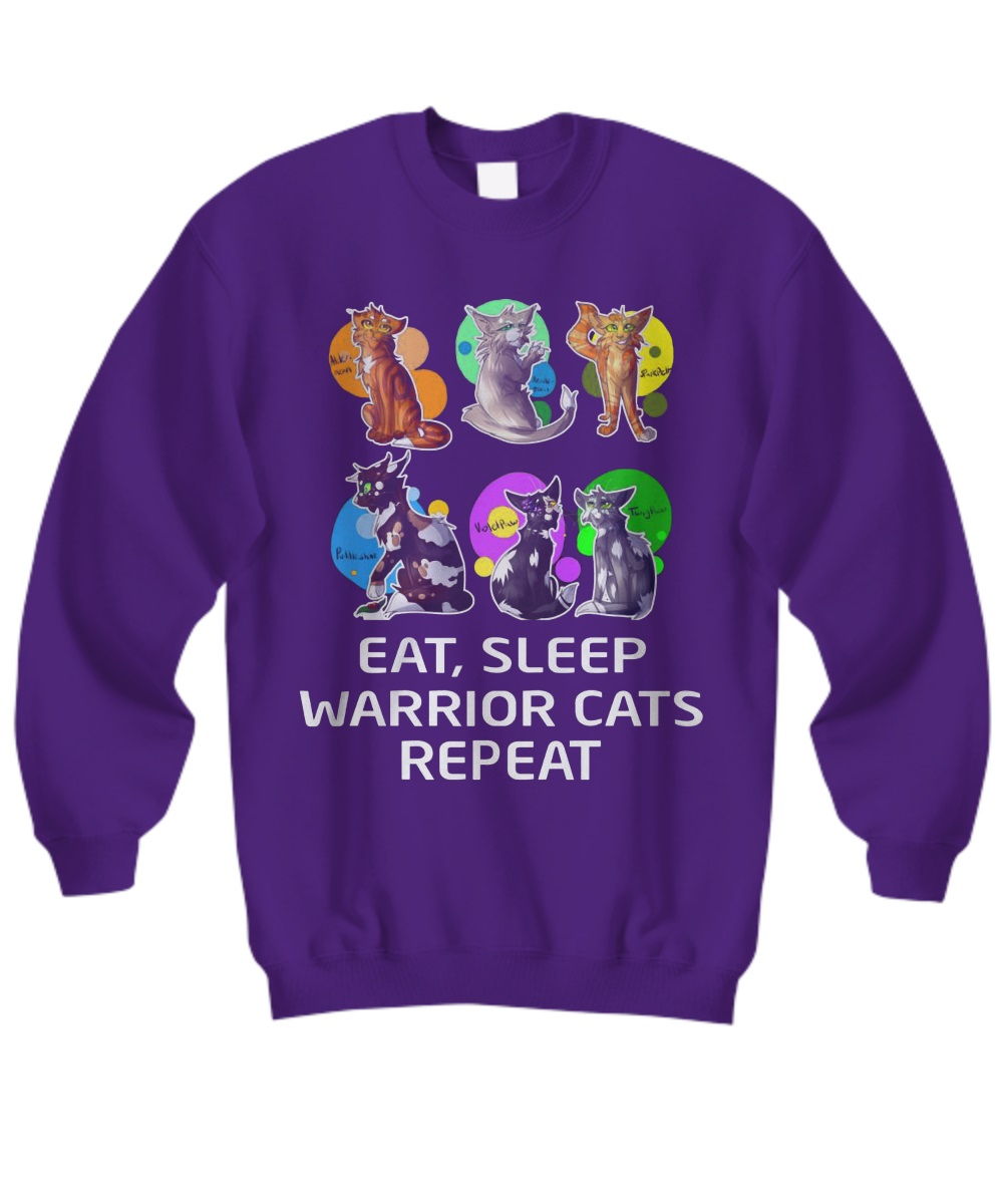 Eat Sleep Warrior Cats Repeat sweatshirt