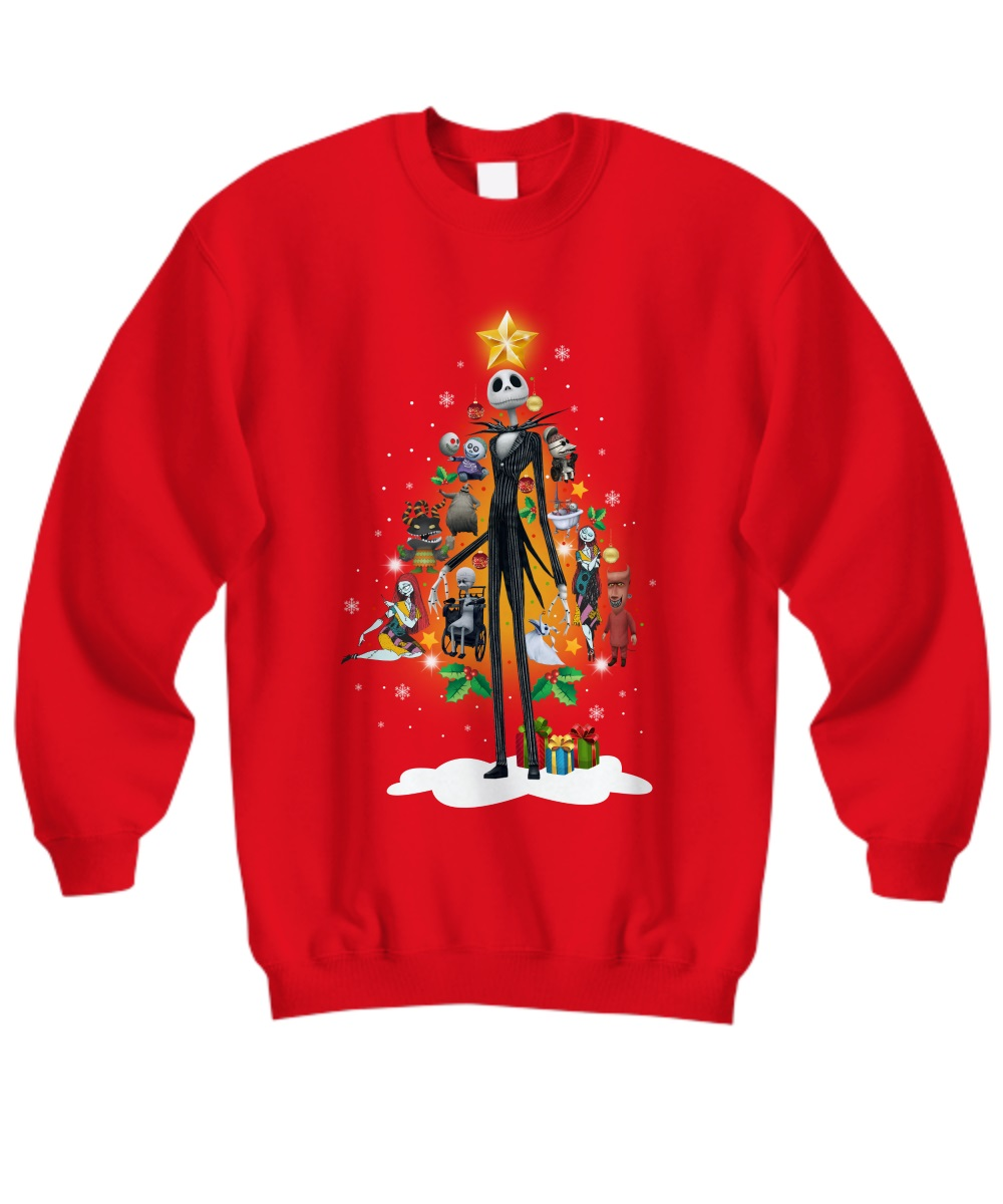 Jack Skellington and friends Christmas tree sweatshirt