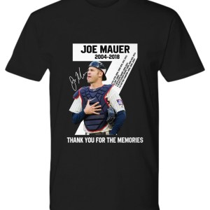 Joe Mauer 2004-2018 thank you for the memories shirt