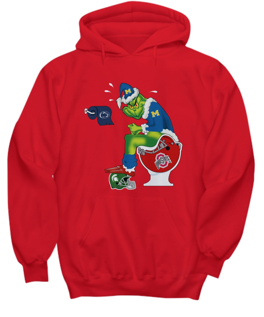 Michigan Grinch shit on Ohio State, MI State and Penn State hoodie