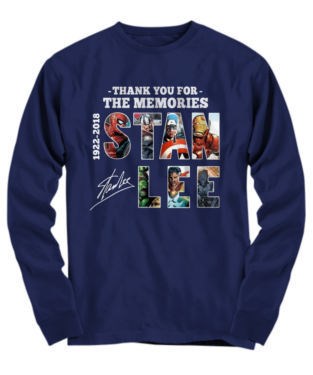 Thank you for the memories Stan Lee all avenger long sleeve