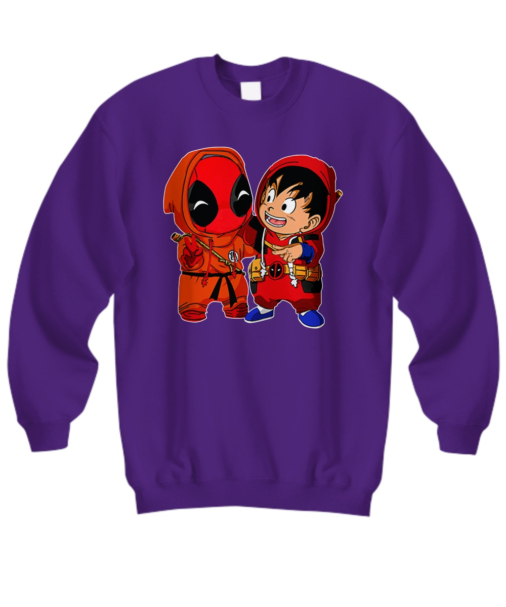 Baby deadpool and baby goku Sweatshirt