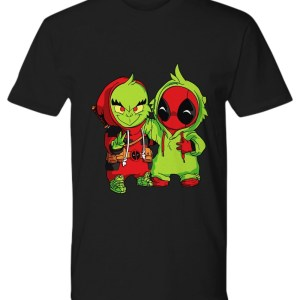 Baby grinch and baby deadpool shirt