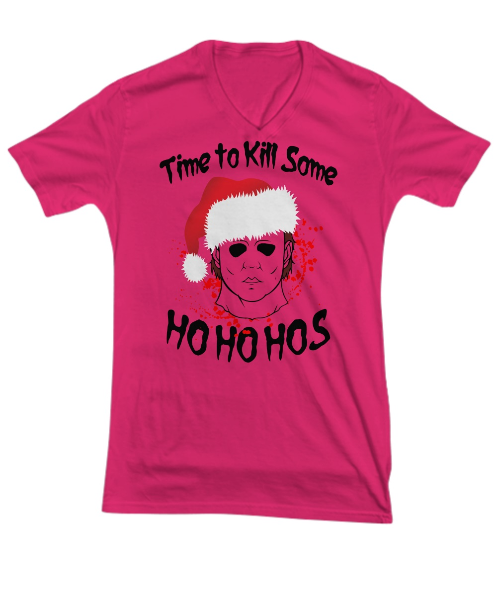 Michael Myers Time To Kill Some Ho Ho Hos v-neck