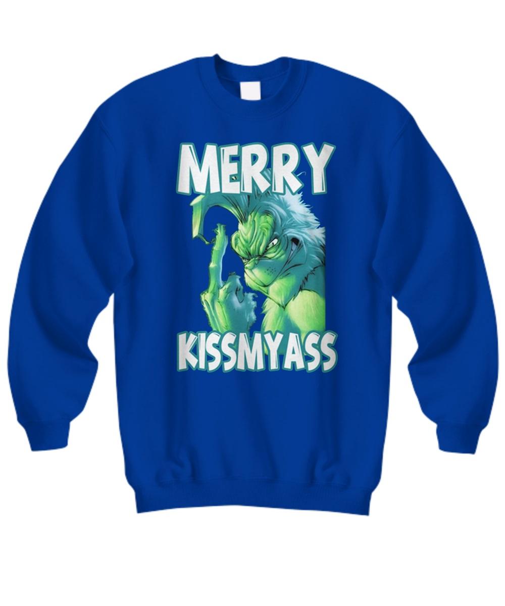 The Grinch merry kiss my ass sweatshirt