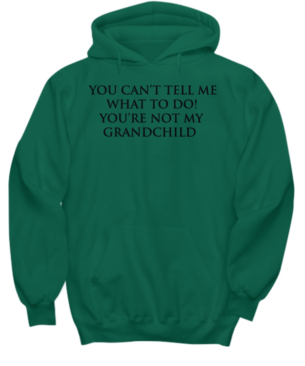 You can't tell me what to do you're not my grand child hoodie
