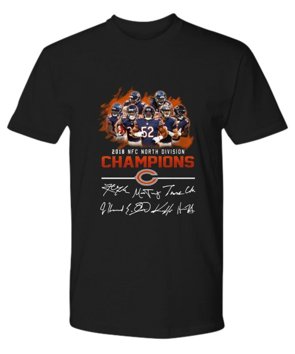 2018 NFC North division champions Chicago Bears signature shirt