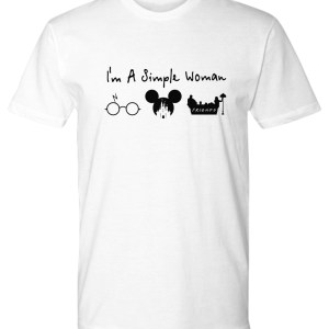 A simple woman who love Harry Potter Disney and Friends shirt