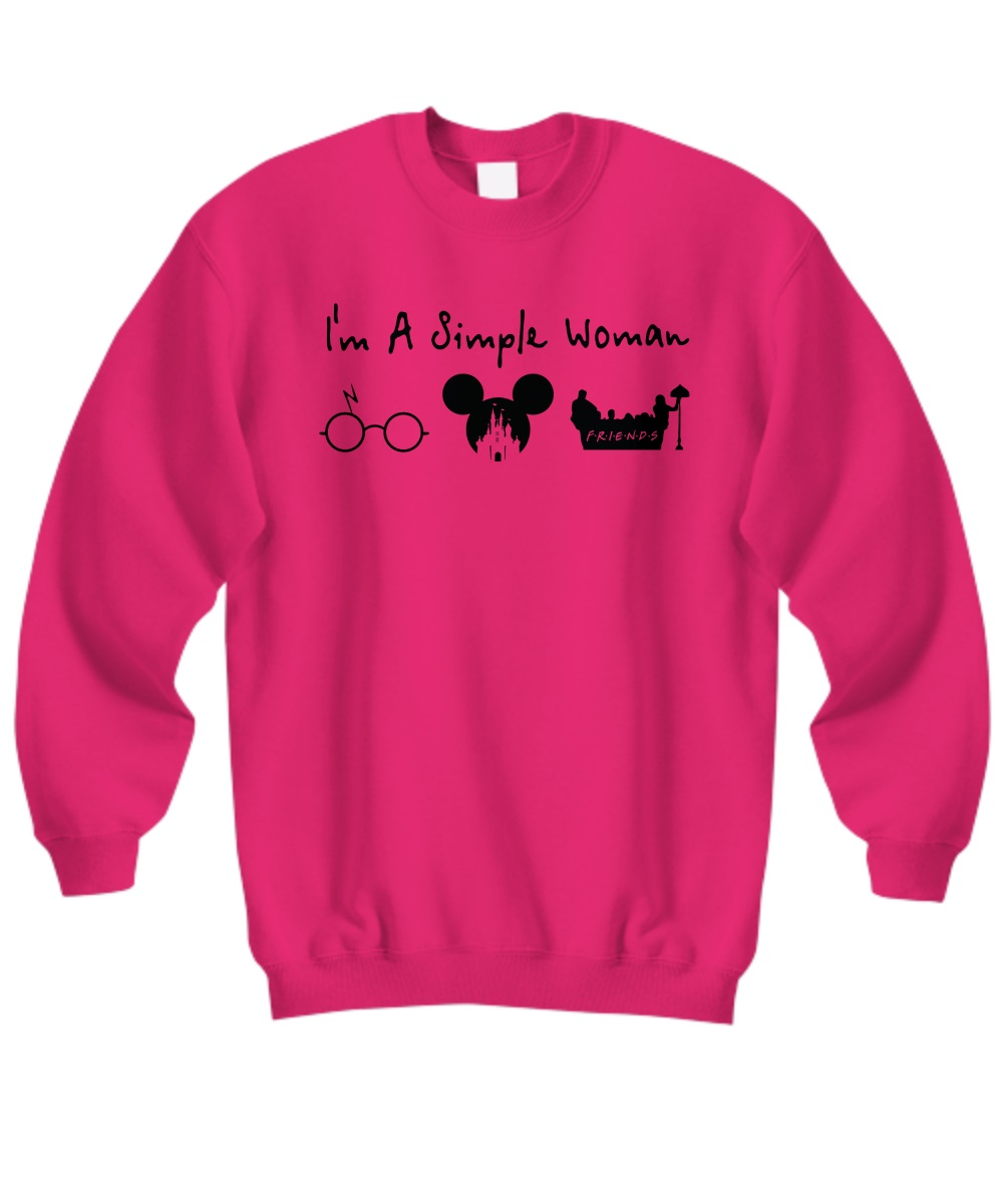 A simple woman who love Harry Potter Disney and Friends sweatshirt