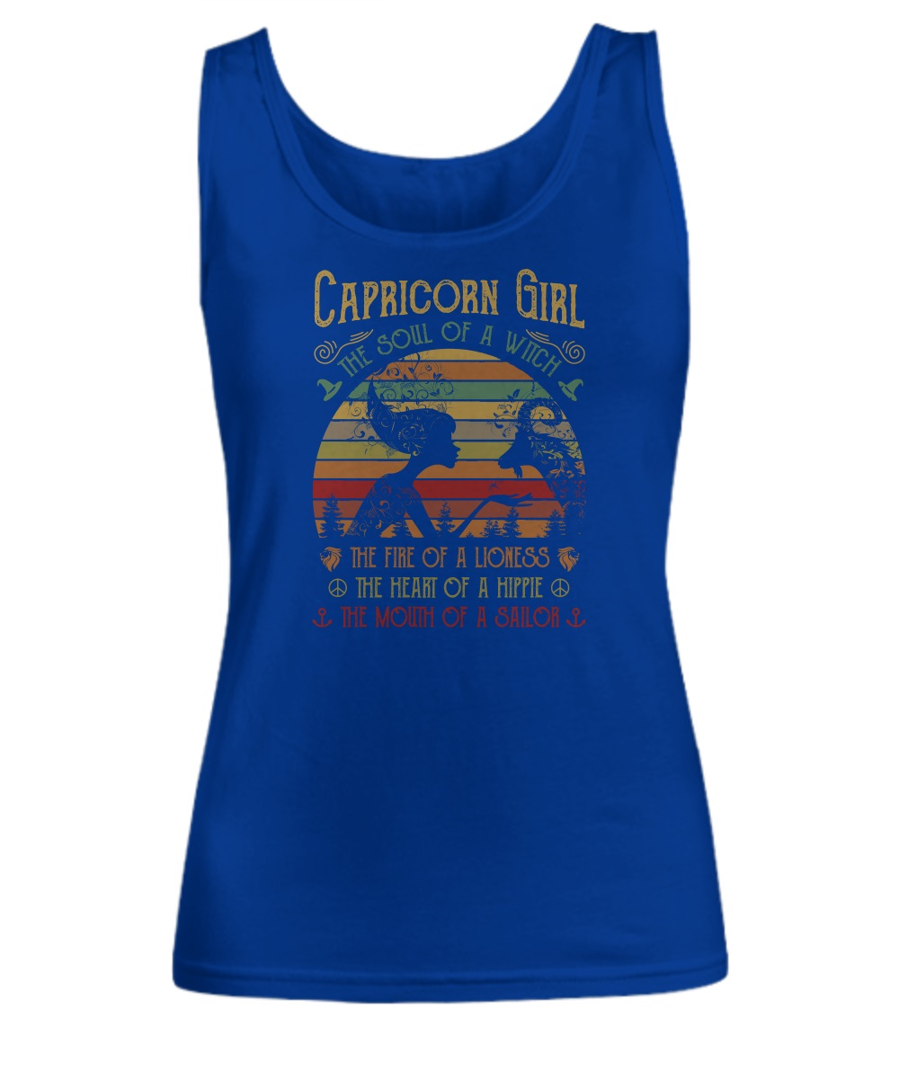Capricorn girl the soul of a witch the fire of a lioness tank top