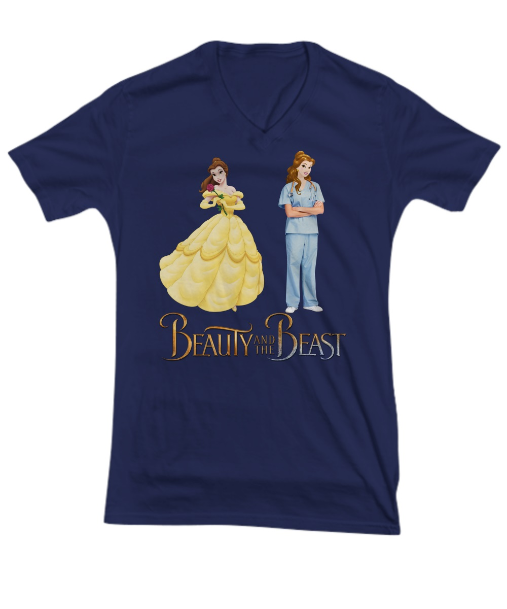 Nurse Beauty and The Beast v-neck