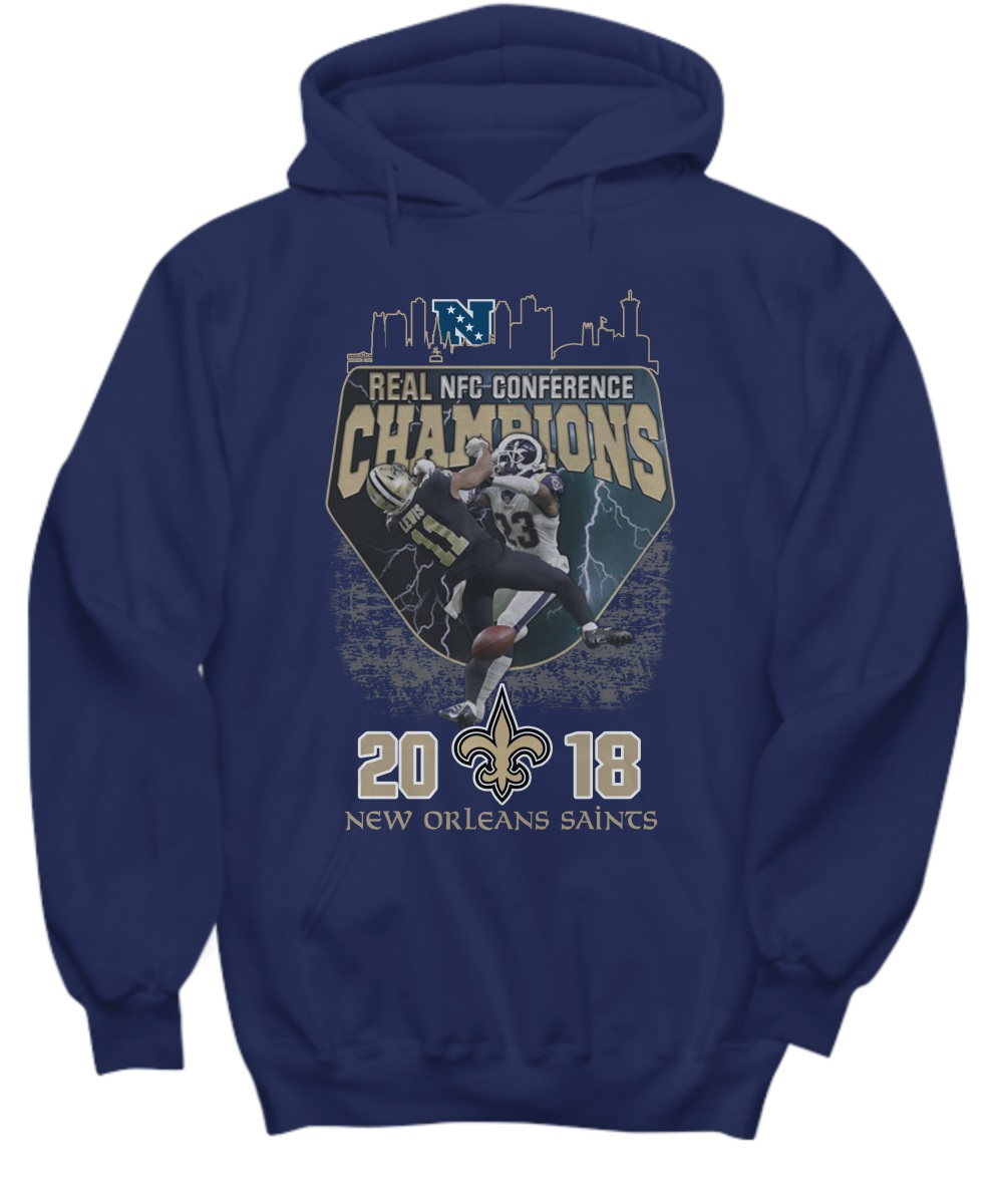 Real nfc conference champions 2018 new orleans saints hoodie