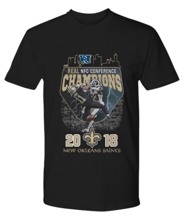 Real nfc conference champions 2018 new orleans saints shirt
