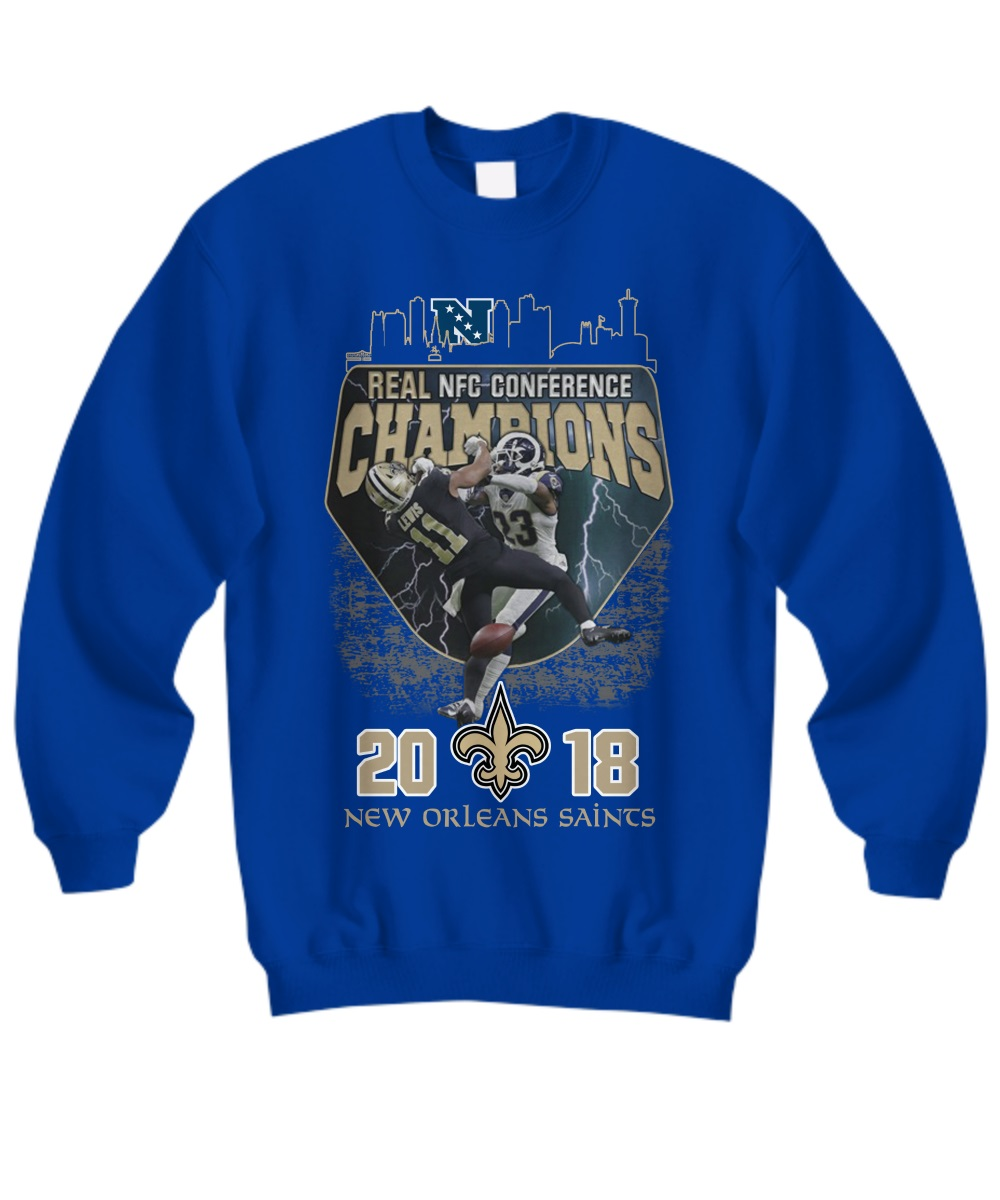 Real nfc conference champions 2018 new orleans saints sweatshirt