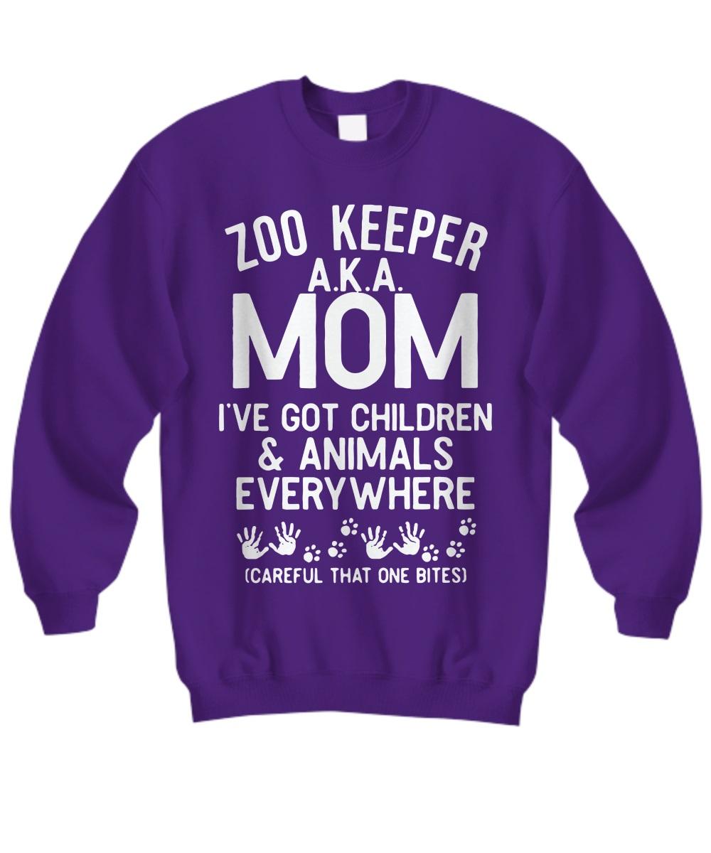 Zoo keeper aka mom I've got children and animals everywhere sweatshirt