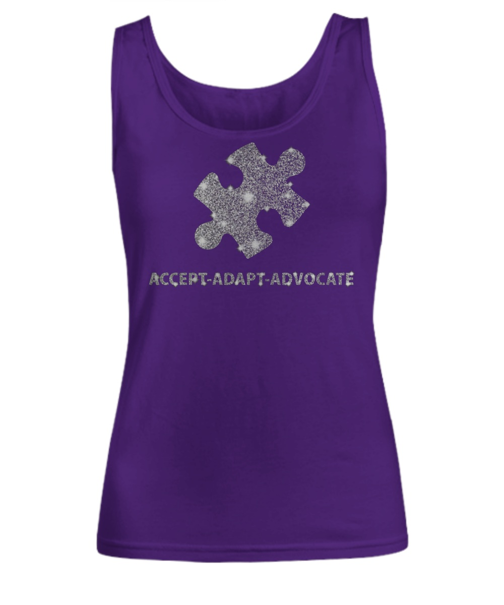 Accept adapt advocate women's tank top