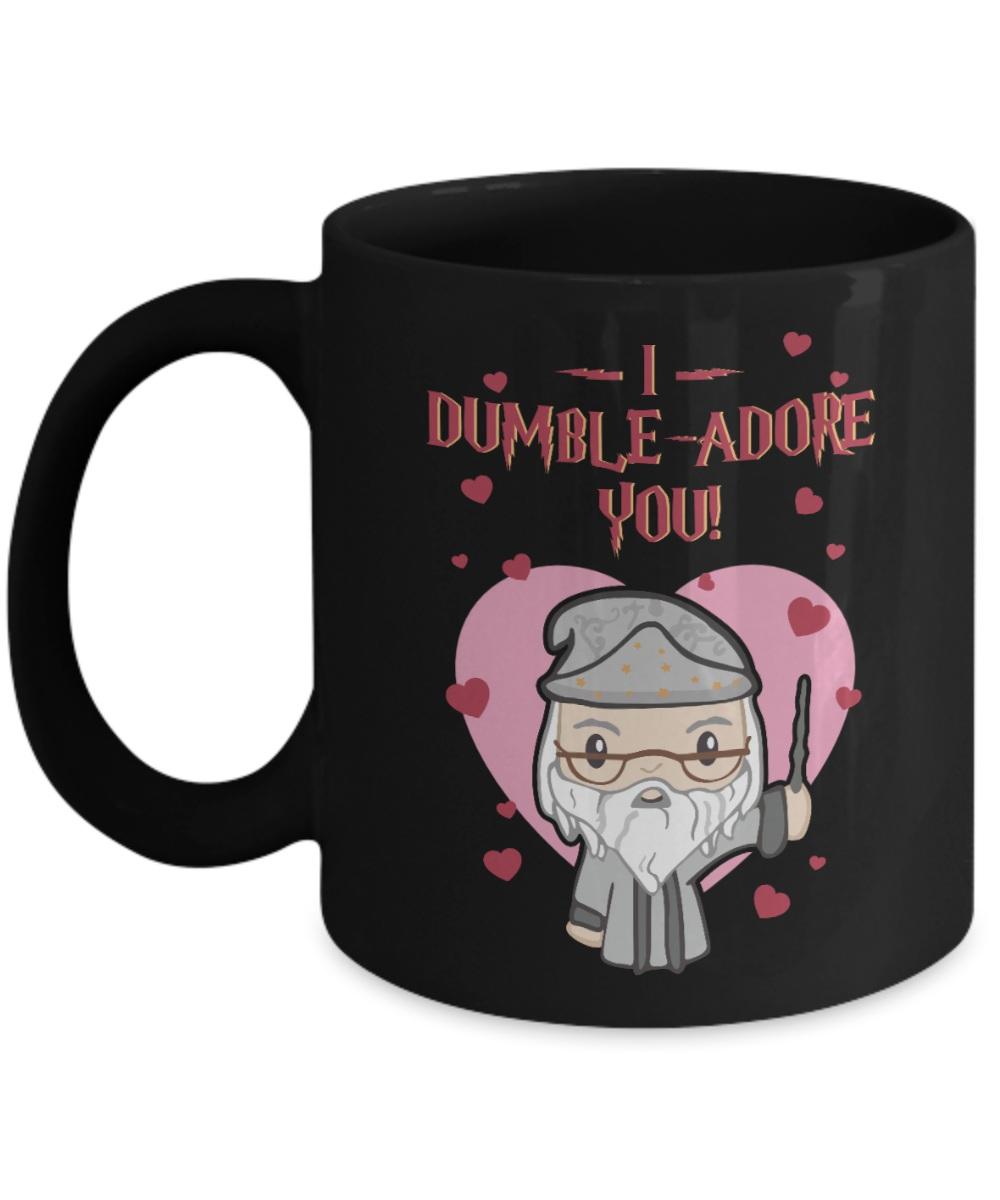 I dumble adore you valentine black mug