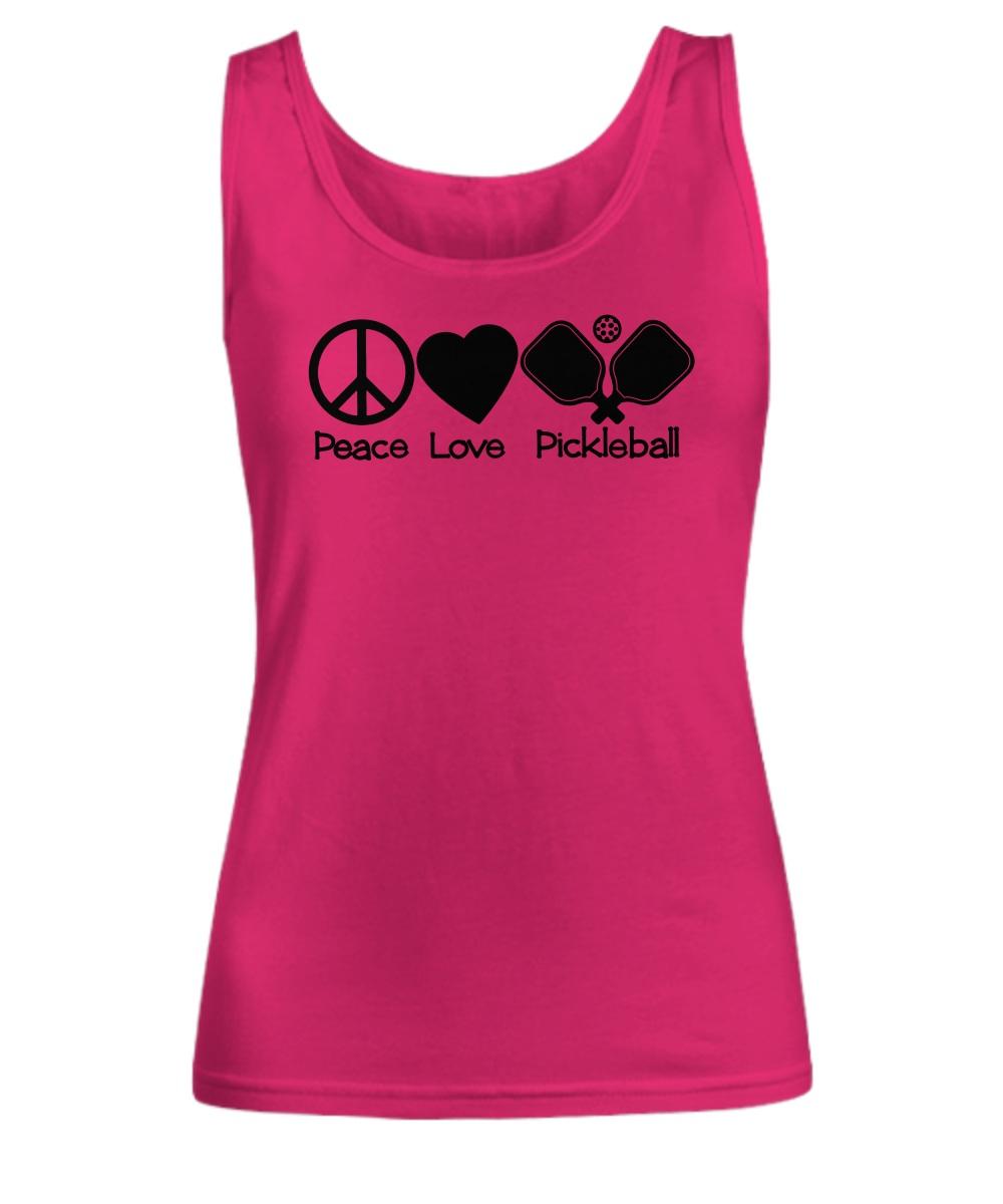 Peace love pickleball tank top