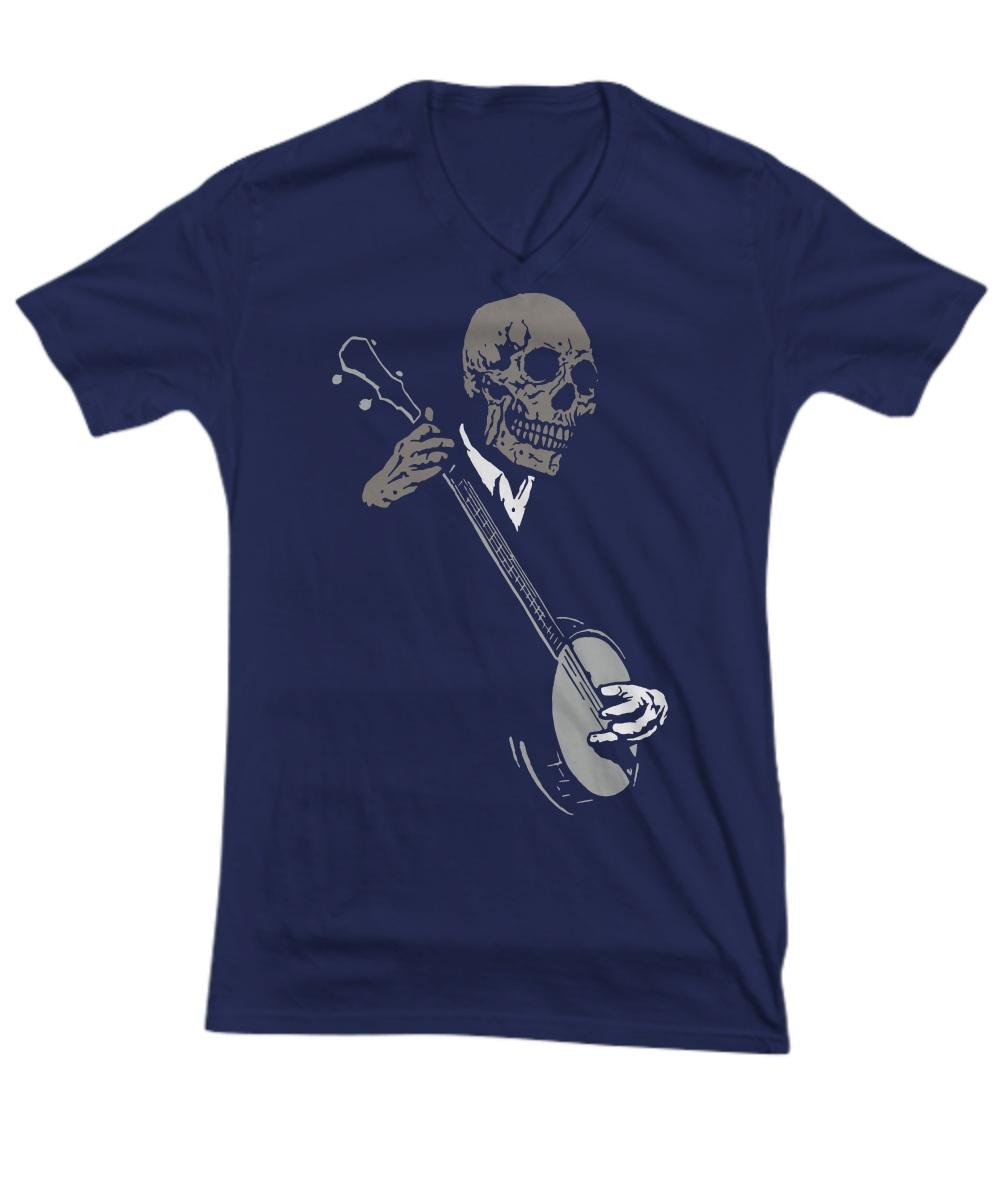 Skullboys' Banjo Blues v-neck