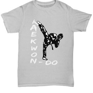 Taekwondo T-Shirt Martial Arts Black Belt Kick shirt