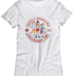 Death's daughters roller skate club shirt