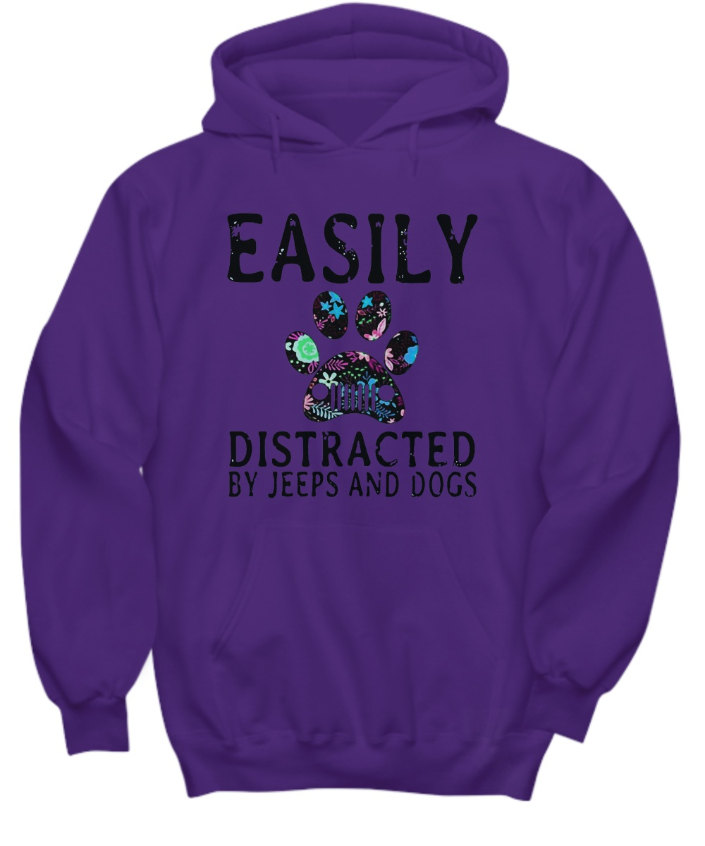 Easily distracted by jeeps and dogs Hoodie