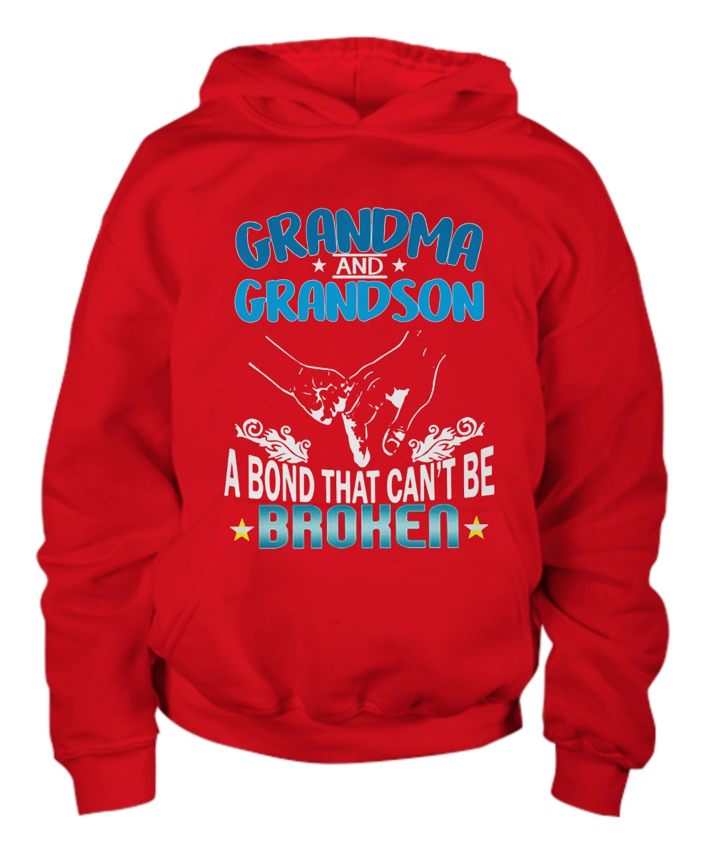 Grandma and Grandson a bond that can't be broken Youth hoodie