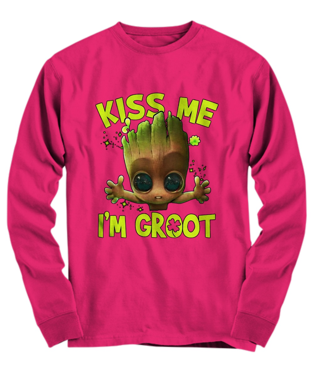 Kiss me I'm Groot Iris ST Patrick's Day long sleeve