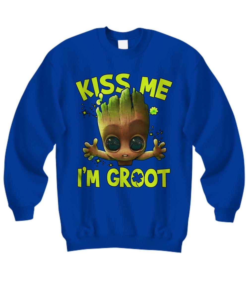 Kiss me I'm Groot Iris ST Patrick's Day sweatshirt