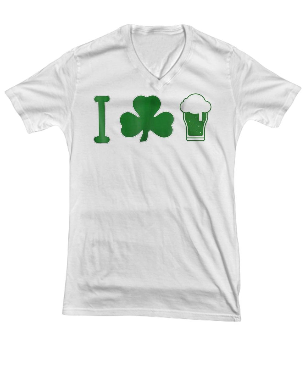 St Patrick's Day I Love Beer v-neck
