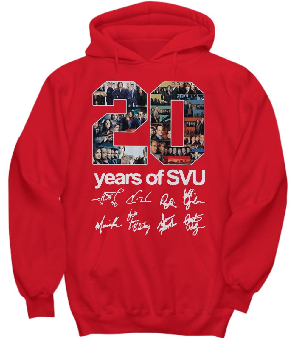 20 years of SVU signatures Hoodie