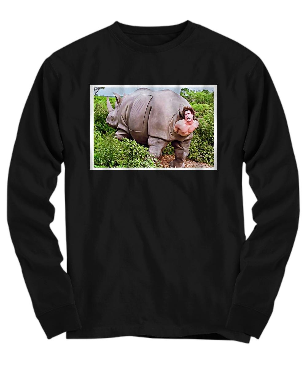 Ace Ventura Rhino Scene Poster Long sleeve