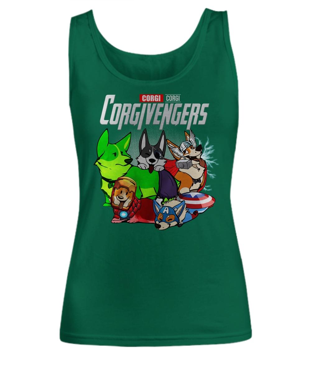 Corgi avengers Tank top