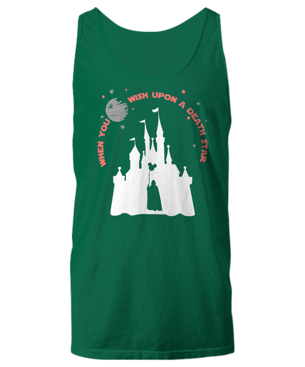 Disney when you wish upon a death star war Unisex Tank Top