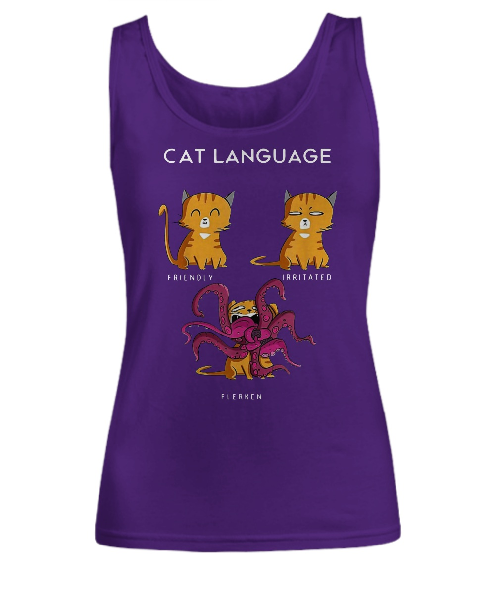 Goose Cat Language Friendly Irritated Flerken Tank top