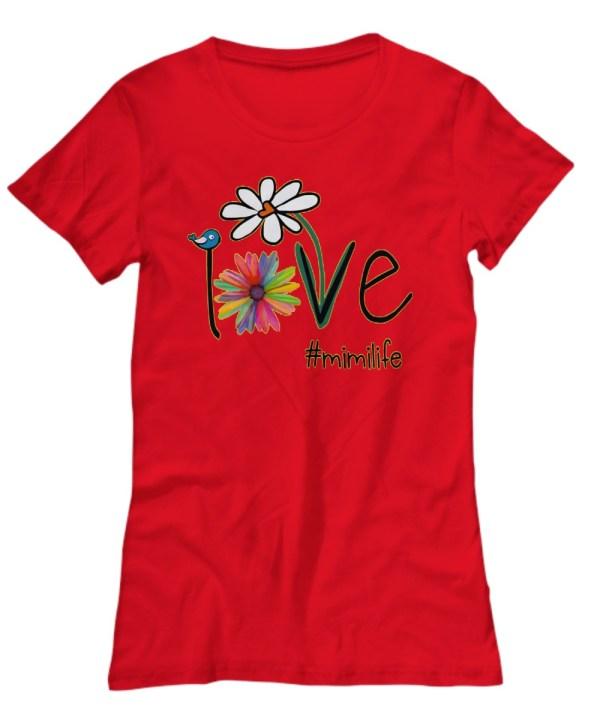 Mimilife Bird Flower Love Shirt