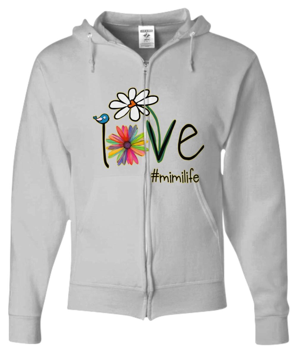 Mimilife Bird Flower Love hoodie