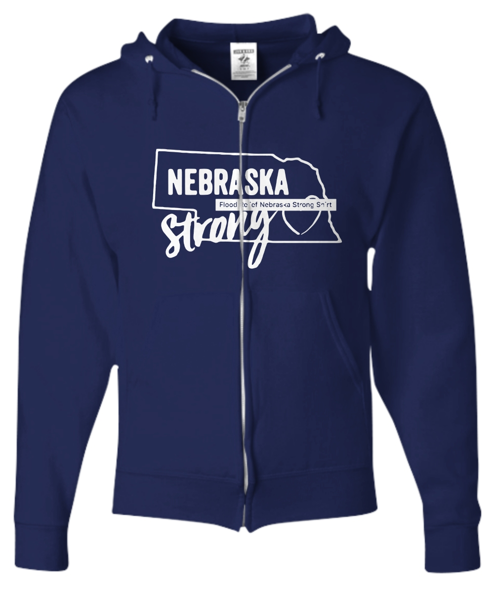Nebraska Strong Nebraska Strong Flooding Zip Hoodie