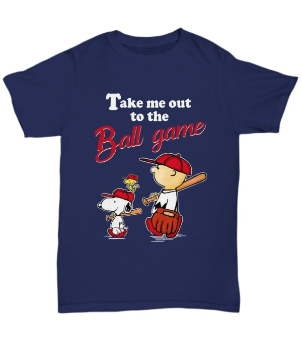 Snoopy take me out to the ball game Unisex Tee