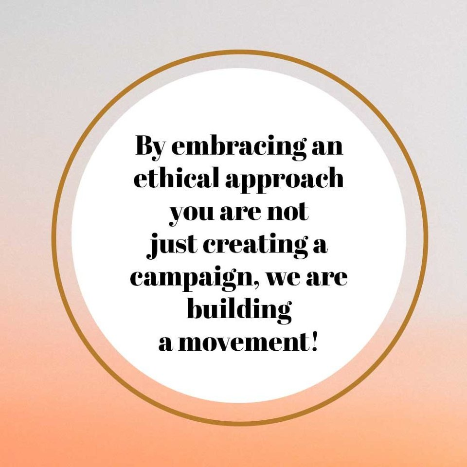 Quote about embracing the ethical movement