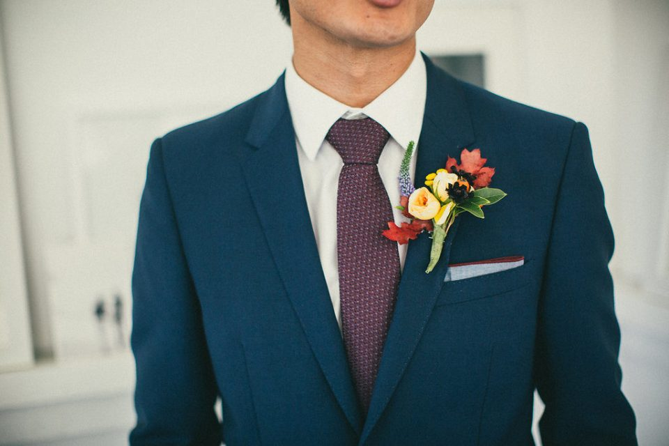 detail shot of the groom's boutonniere