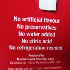 Processed without citric acid