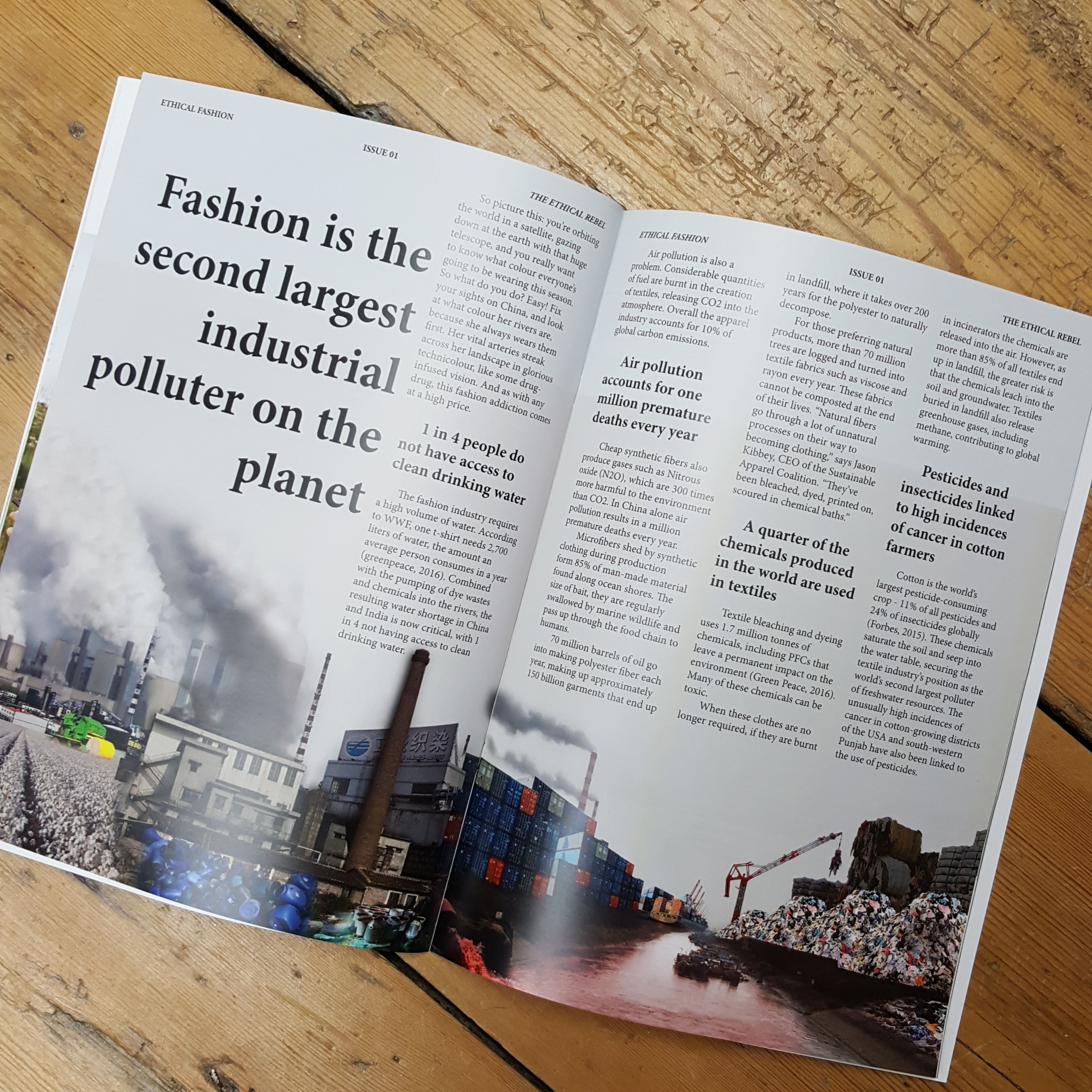 Magazine feature on the need for Ethical Fashion