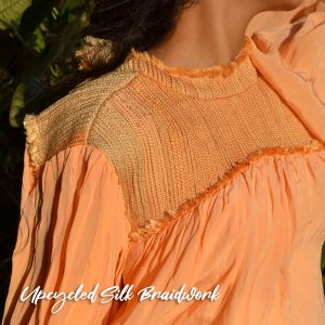 upcycled silk braidwork