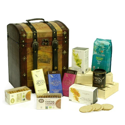 Deluxe Organic Tea, Coffee & Cocoa Vintage Chest Hamper - Gift ideas for  Birthday, Christmas, Anniversary and Corporate Gifts